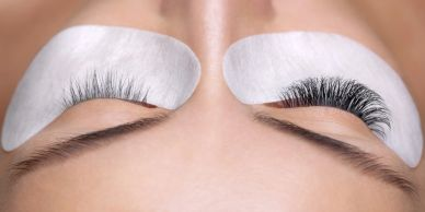 Eye lash extensions at Lash and Glo