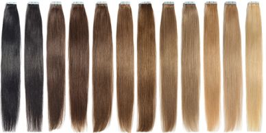 Alaeo Beauty Essentials human hair extensions selection of a variety of colors available