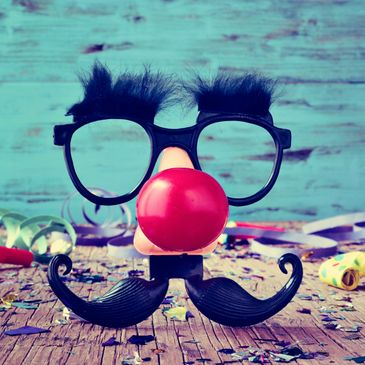 Funny glasses, nose and mustache picture