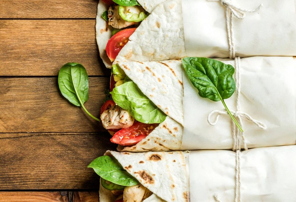 healthy salads and wraps