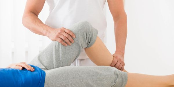 Knee injury being treated with Osteopathic mobilization techniques