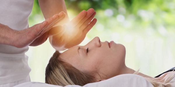 Reiki session.