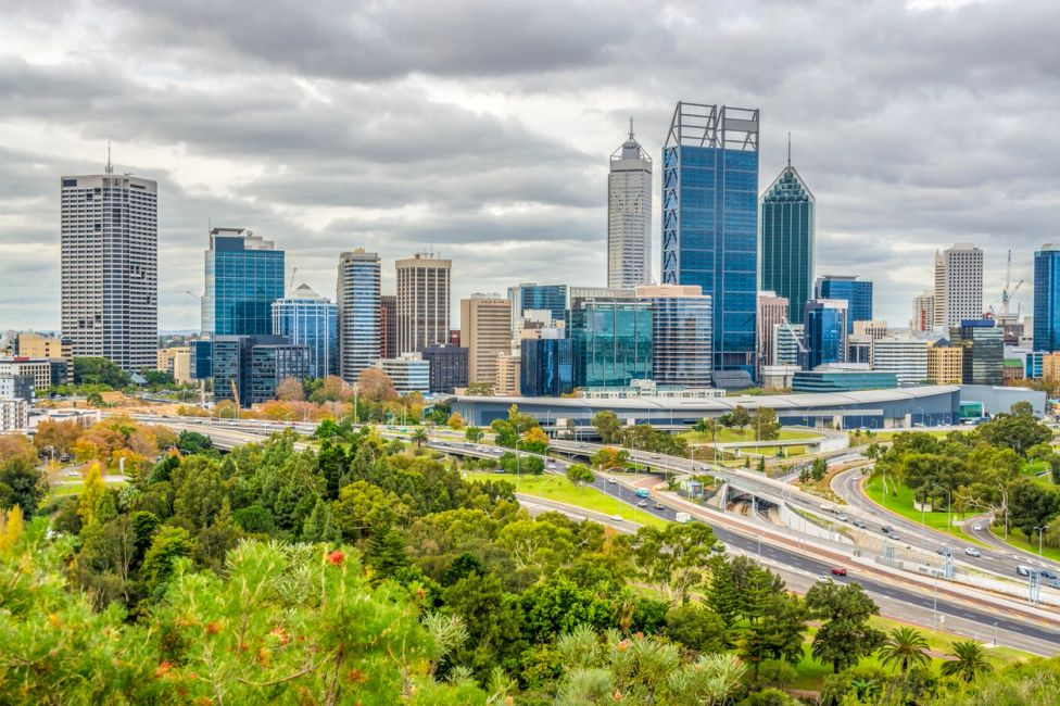 Panorama picture of Perth city. Sydney to Perth Interstate Removalists and long distance removals