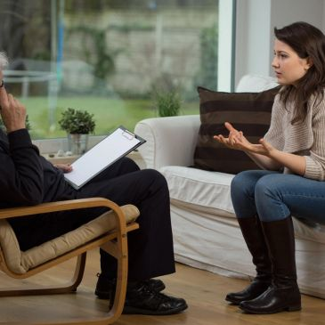 Therapist listens and observes all the information the client gives.