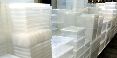 Kile's Ace Hardware Storage and Organizing Department, Rubbermaid, storage boxes, storage totes