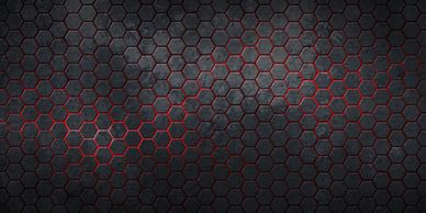cool hexagon background in gray and red
