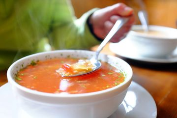 Delicious fresh home-style soups make a perfect meal.