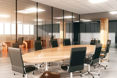 Offices, workstations, and conference rooms are where most of each day's activity can be found,