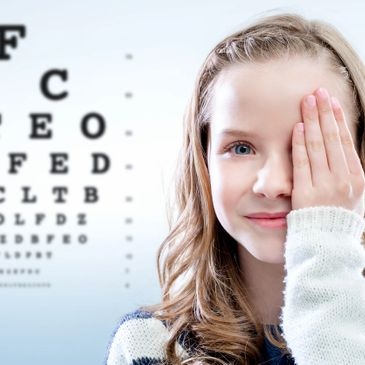 The eye chart allows the eye doctor determine how well the eyes see and function together.
