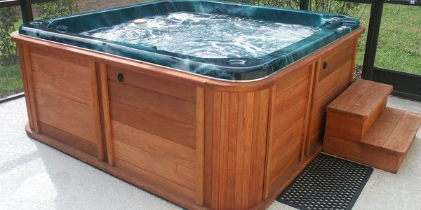 hot tub cabinet hot tub upgrade