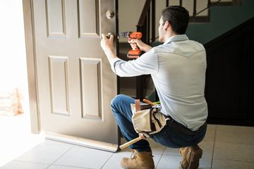 door installation, door frame, repair service in Plano, Stain & painting in Mckinney, Doorjamb fix