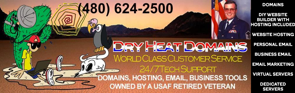 Dry Heat Domains and Hosting