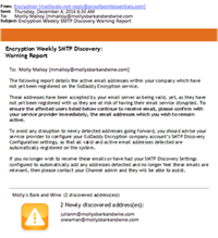 SMTP Discovery Warning Report
