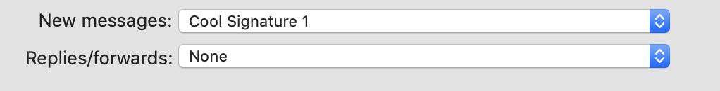 Wybierz preferencje wiadomości e -mail z podpisem