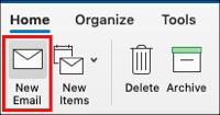 Wählen Sie Neue E-Mail