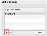 Haz clic en el icono de signo más
