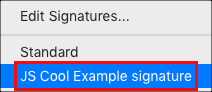 Add signature from Message options