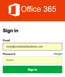 Introduzir o seu endereço de correio eletrónico e a sua palavra-passe e clicar em Sign In (Iniciar Sessão)