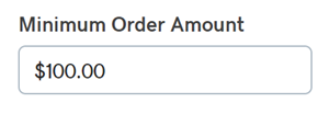 Enter Minimum Order Amount