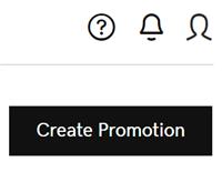 Cliquez sur Créer une promotion