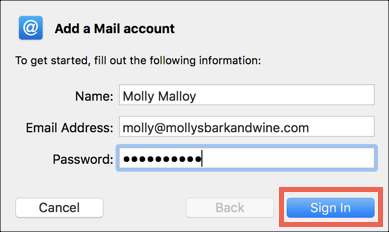 incoming mail server for godaddy on mac