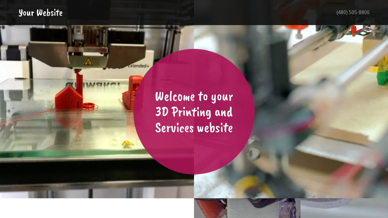 3D Printing and Services Website: Example 10