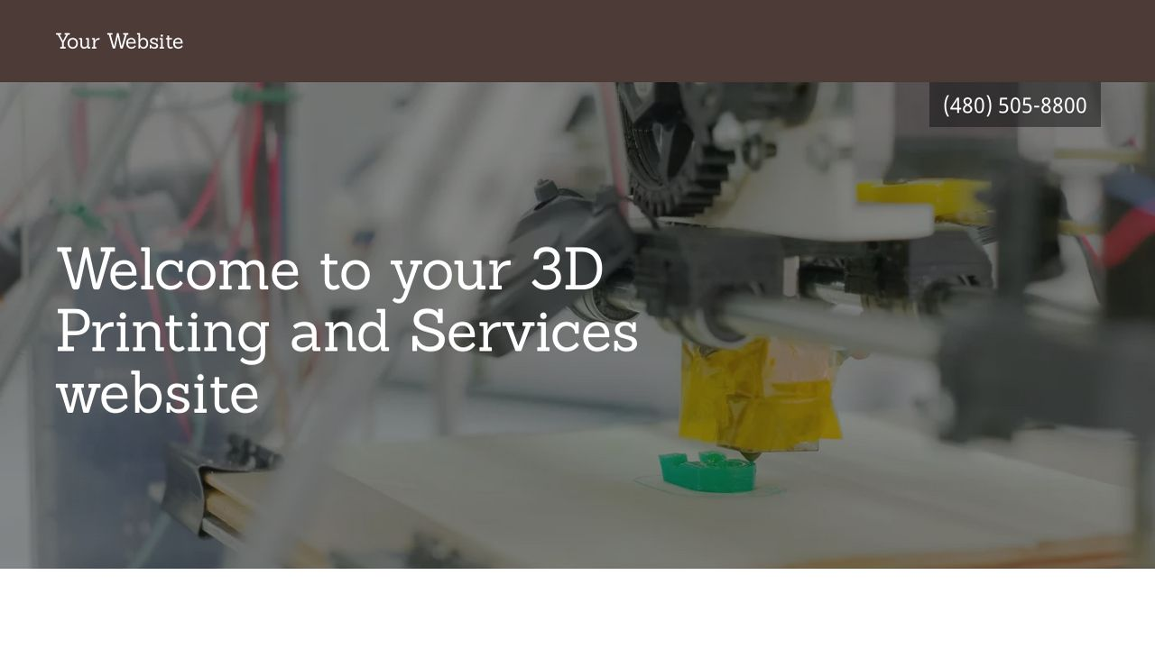 3D Printing and Services Website: Example 11