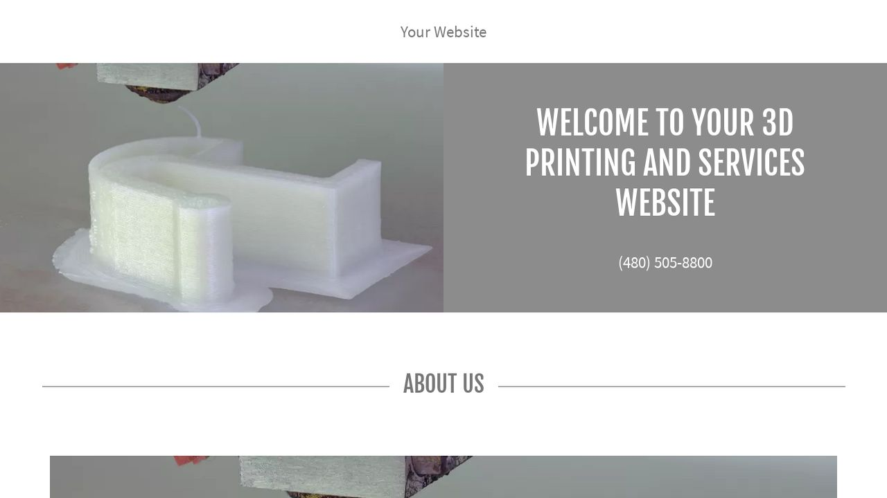 3D Printing and Services Website: Example 14