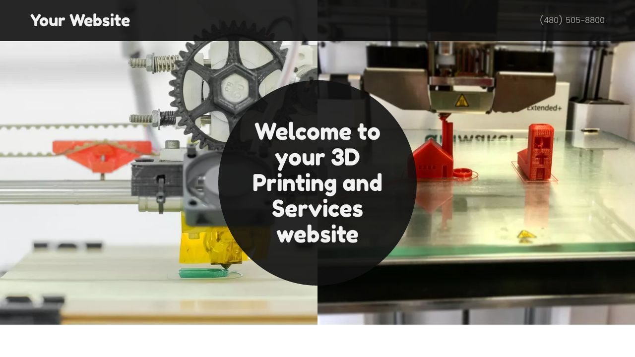 3d printing and services website templates godaddy