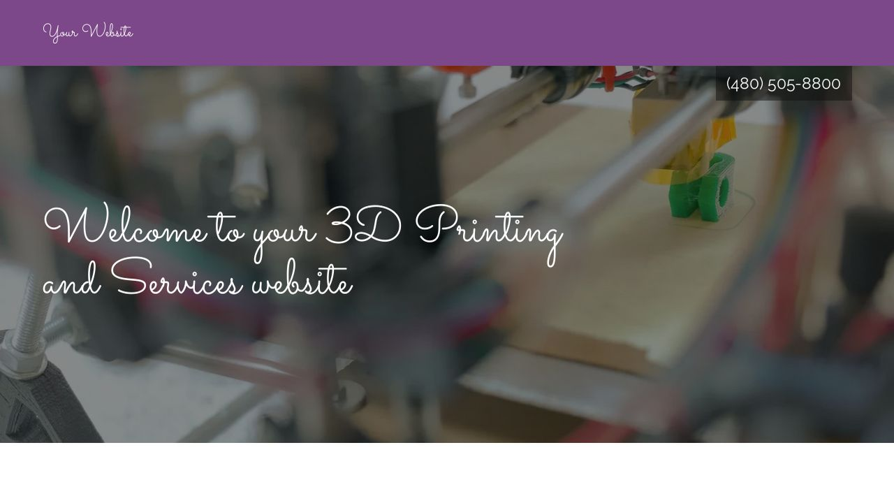 3D Printing and Services Website: Example 18