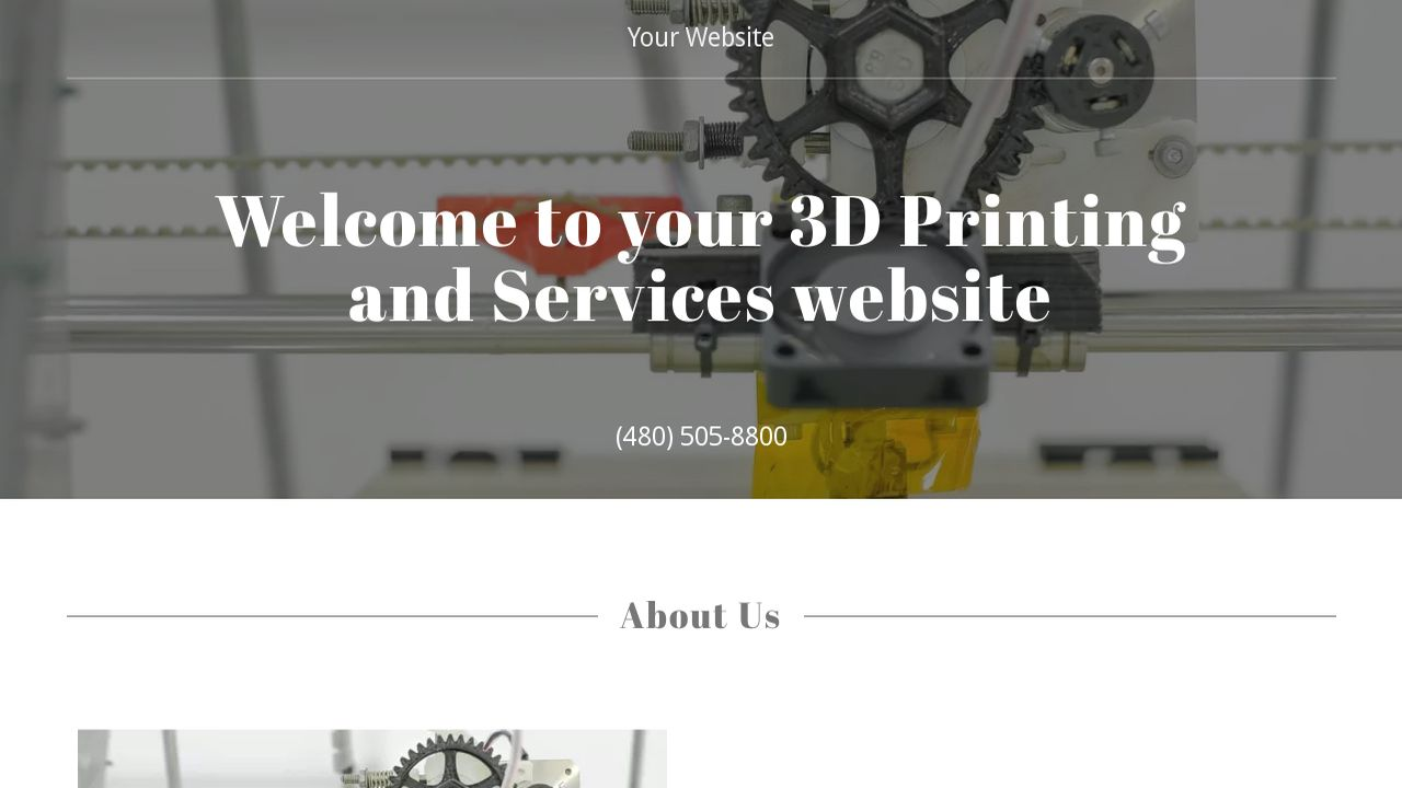 3D Printing and Services Website: Example 2