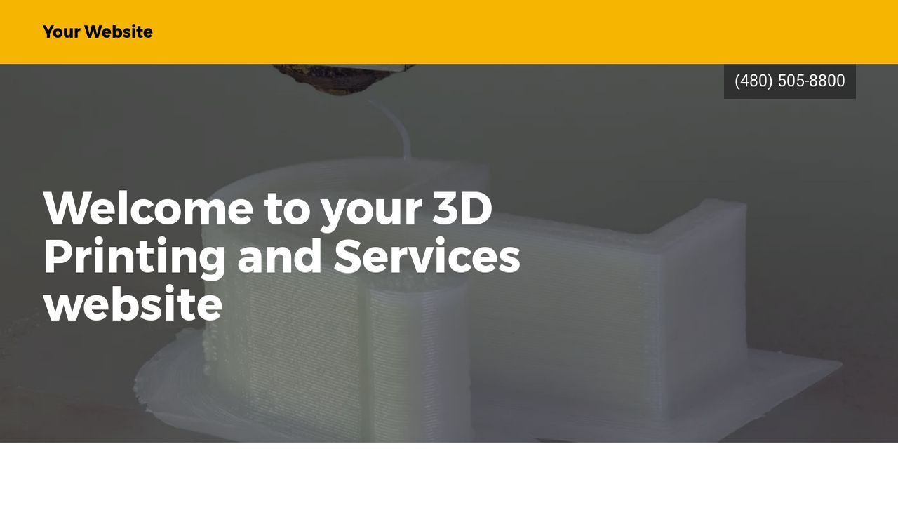 3D Printing and Services Website: Example 4