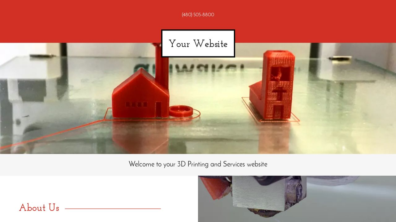 3D Printing and Services Website: Example 5