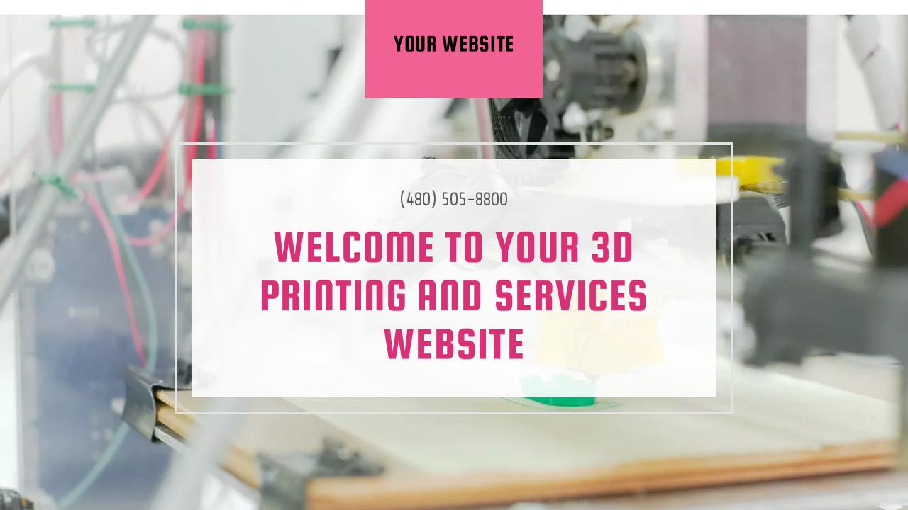 3D Printing and Services Website: Example 6