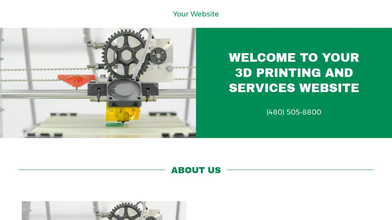 3D Printing and Services Website: Example 7