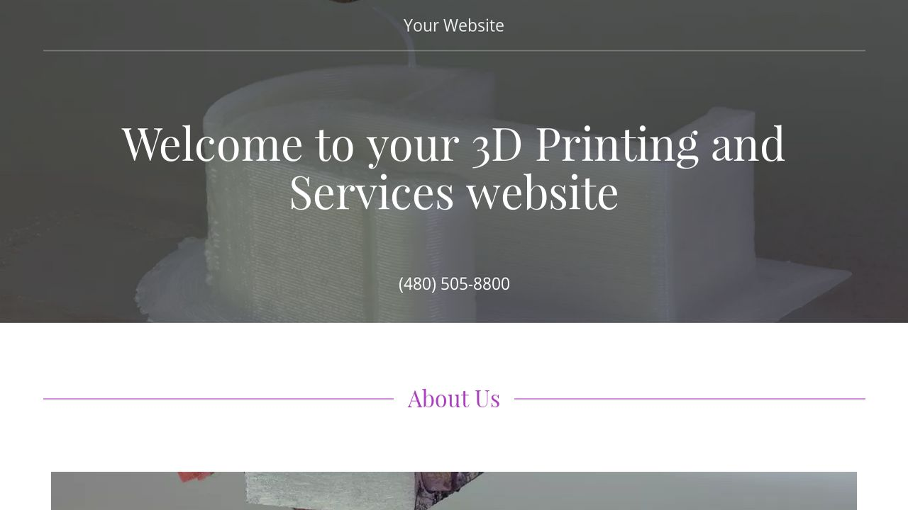 3D Printing and Services Website: Example 9