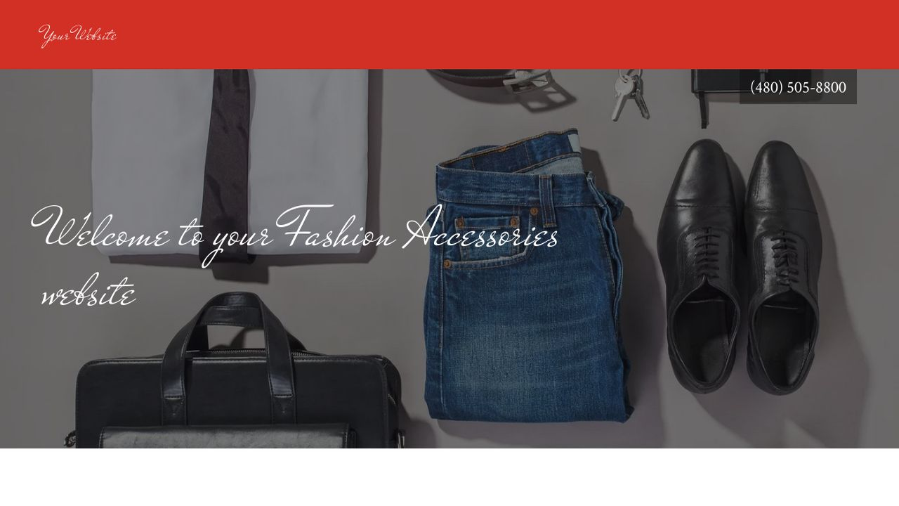 Fashion Accessories Website: Example 1