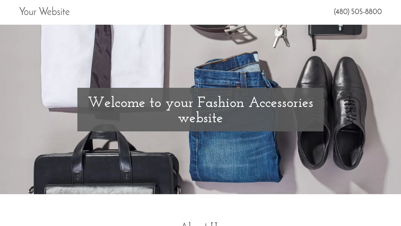 Fashion Accessories Website: Example 11