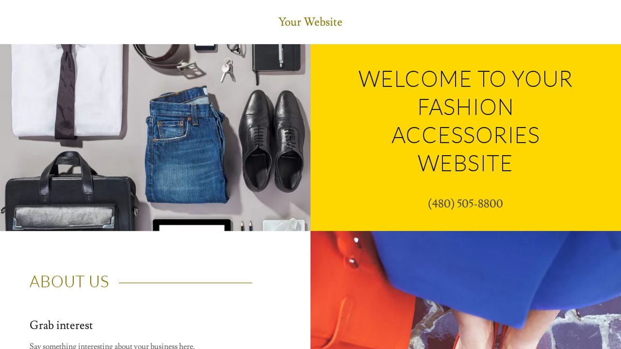 Fashion Accessories Website: Example 13