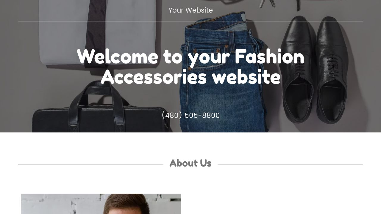 Fashion Accessories Website: Example 16