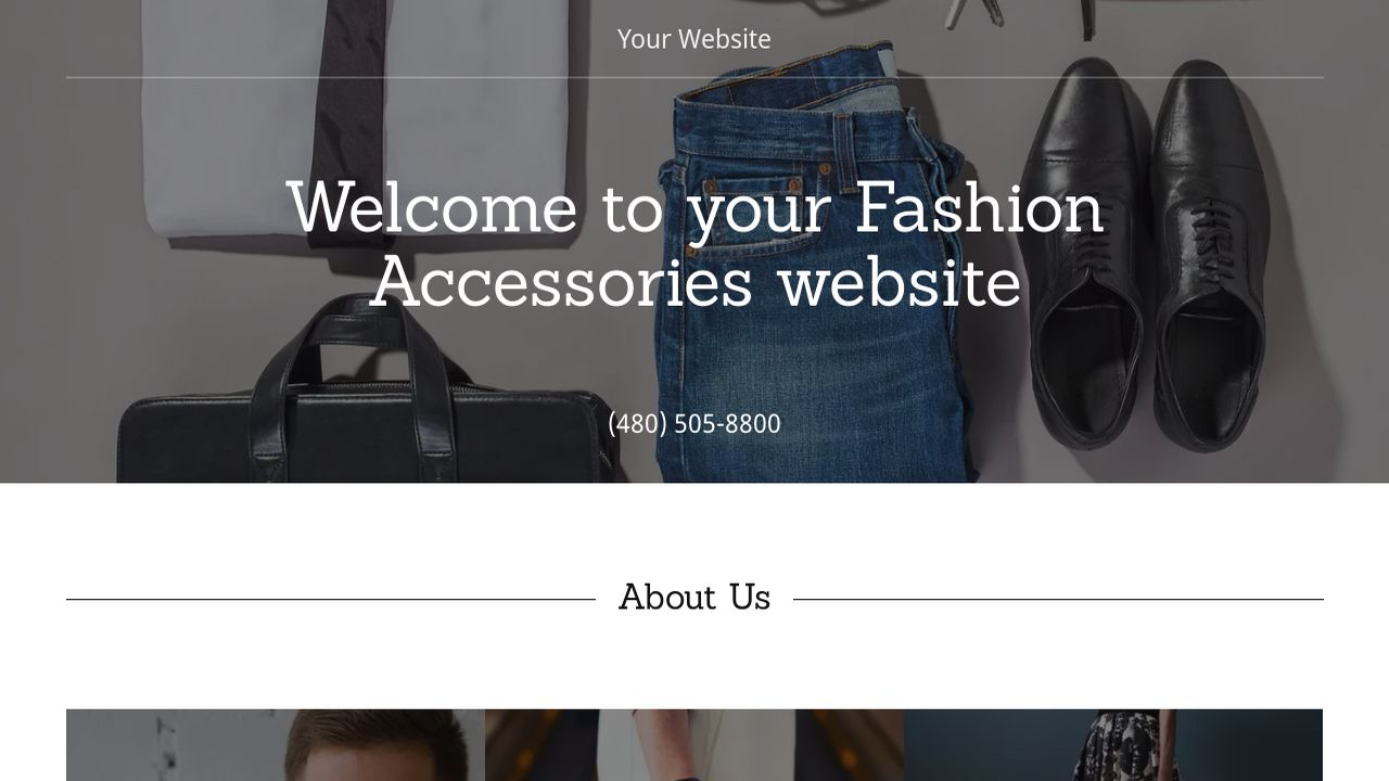 Fashion Accessories Website: Example 2