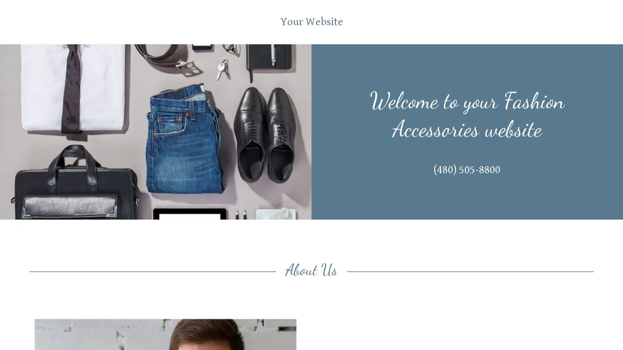 Fashion Accessories Website: Example 6