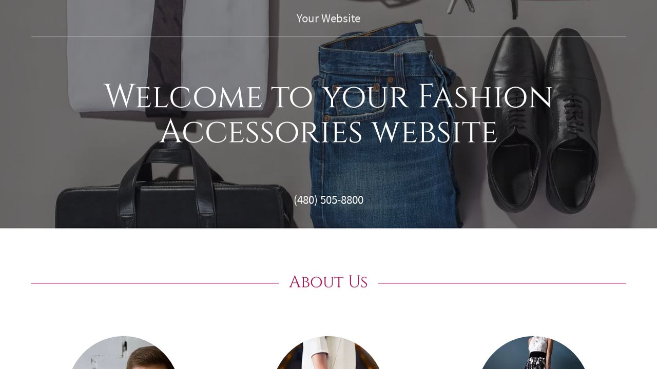 Fashion Accessories Website: Example 9