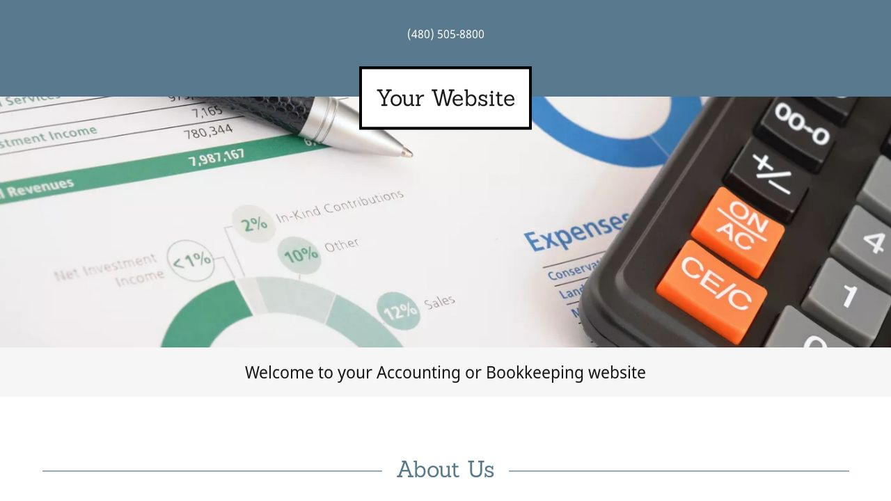 accounting or bookkeeping website templates godaddy