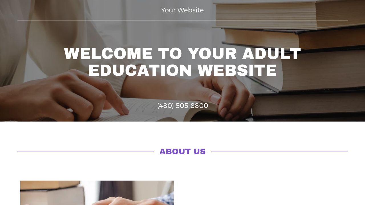 Adult Education Website: Example 11