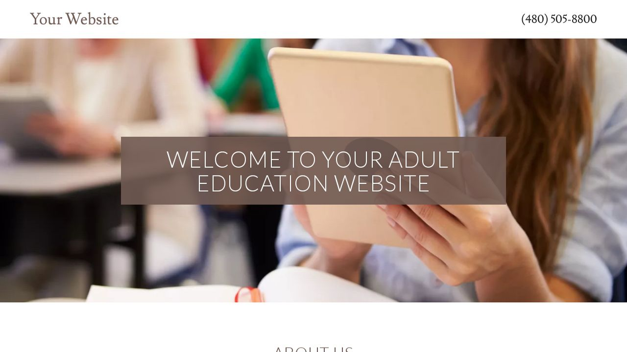 Adult Education Website: Example 12