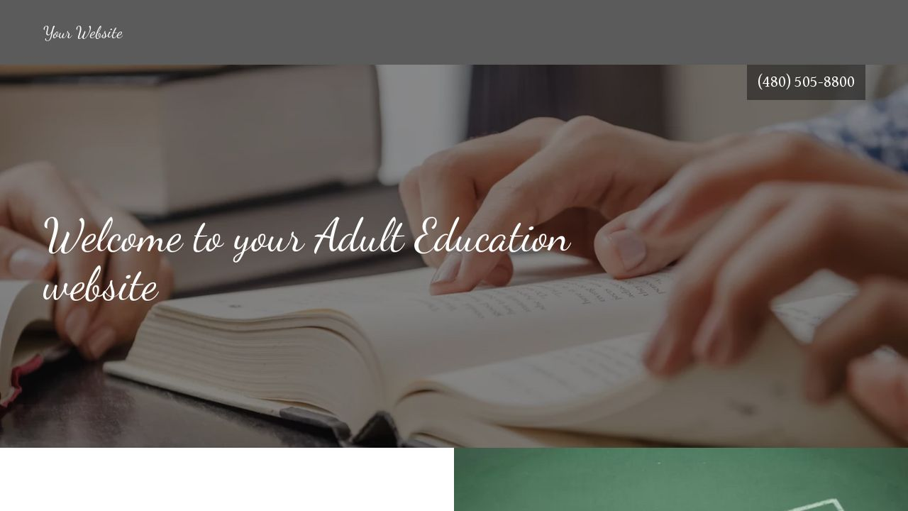 Adult Education Website: Example 13