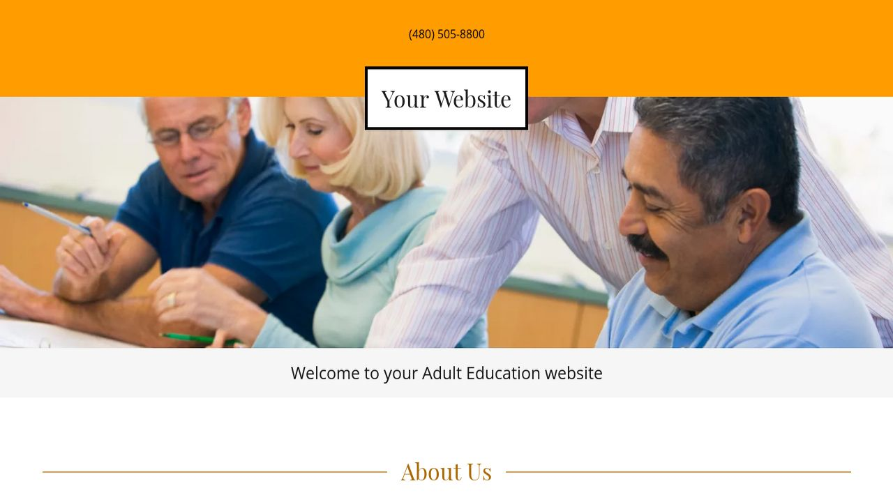 Adult Education Website: Example 14