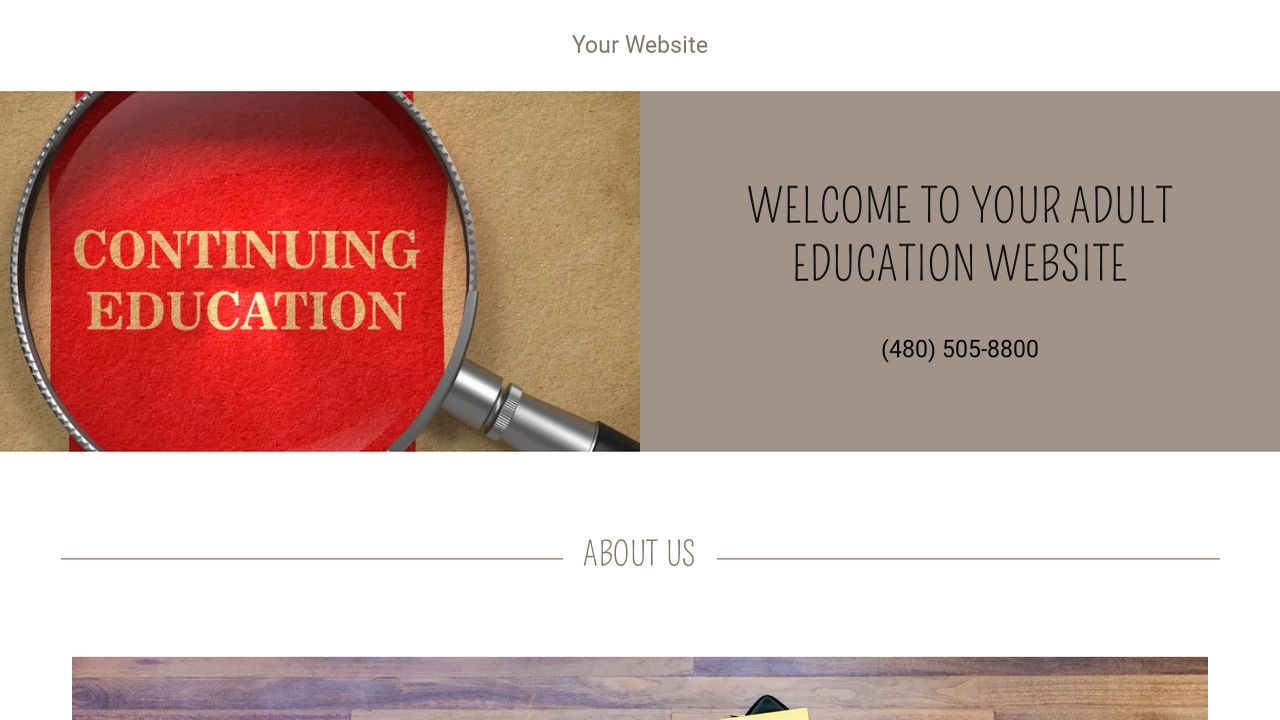 Adult Education Website: Example 15
