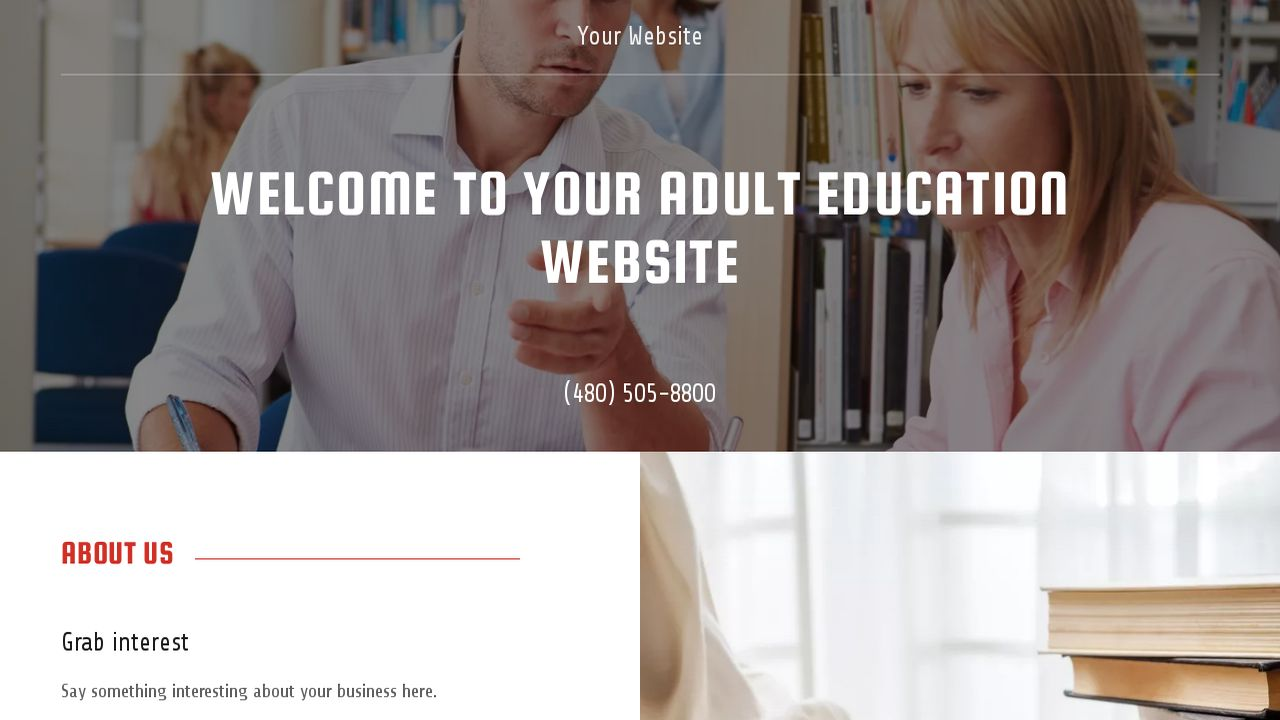 Adult Education Website: Example 18